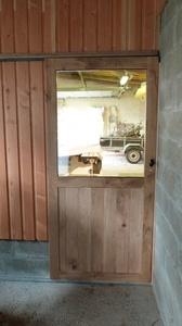Porte coulissante pour l'atelier