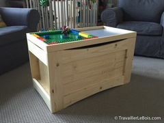 Coffre à jouets multifonctions