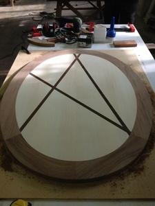Plateau de table basse elliptique