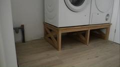 Meuble machine à laver et sèche linge