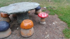 Tabourets champignons