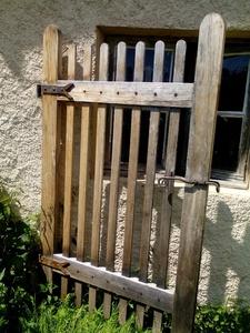 Petit portail de jardin