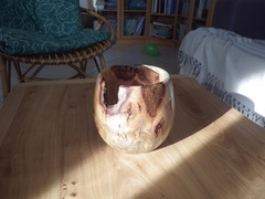 Vase torturé de décoration