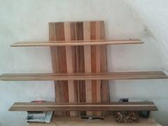 Étagères avec du bois de récup'