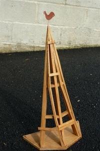 Maquette partielle de charpente de flèche torse