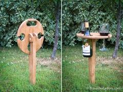 Une table pliante pour apéro pique-nique