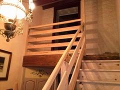 Confection d'un escalier avec sa rampe