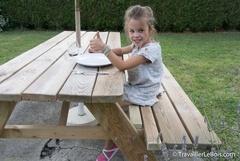 Une rallonge de banc pour table pique-nique