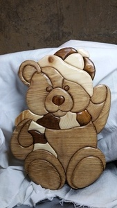 Teddy l'ours intarsia
