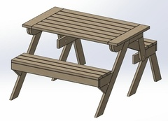 Banc transformable en table