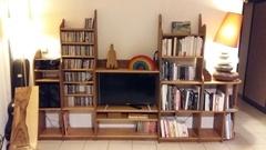 Bibliothèque meuble TV hifi