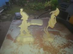 Figurines chantournées