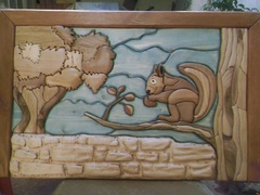 Intarsia un écureuil