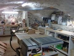 Atelier de menuiserie vouté dans les Hautes-Alpes.