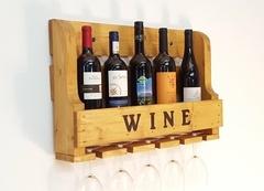 Un présentoir à vin