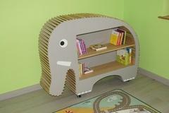 Bibliothèque éléphant