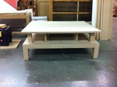 Table de salon, 2 niveaux avec tiroir.