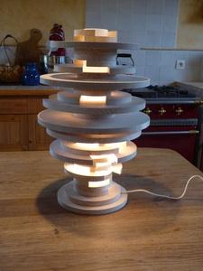 Recette de la petite lampe destructurée