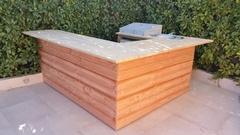 Fabrication sur mesure bar extérieur et cuisine intégrée