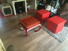 Table en arêtier cintré