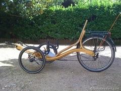 Le Zélo : Vélo couché en bois