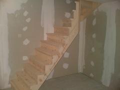 Escalier en sapin