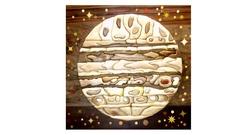 Intarsia marqueterie une planete