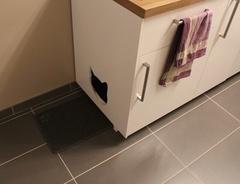 Meuble de toilette pour chat