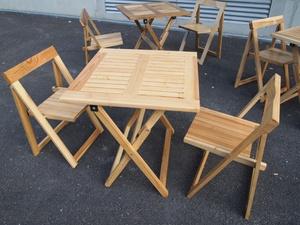 Tables et chaises pliantes Entropie