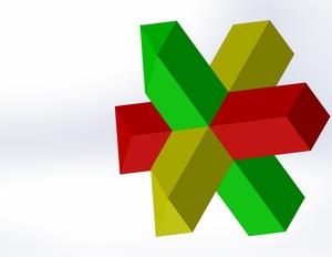 Croix de saint andré : coupe des extrémités