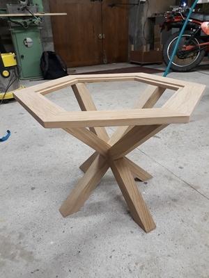 Table basse vitrée
