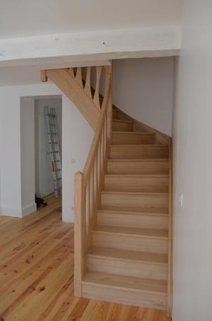 Escalier quart tournant châtaignier