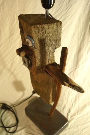 Sculpture bois flotté et récup'