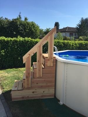 Escalier pour piscine hors sol