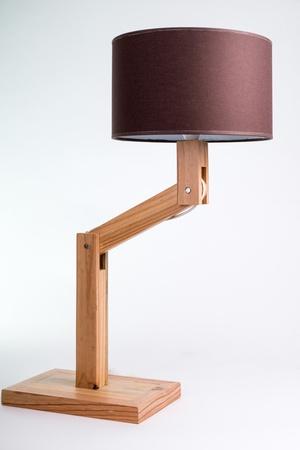 Lampe en bois de palette