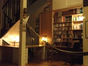 Bibliothèque bureau en chêne