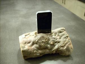 Amplificateur de son  iphone rustique et naturel