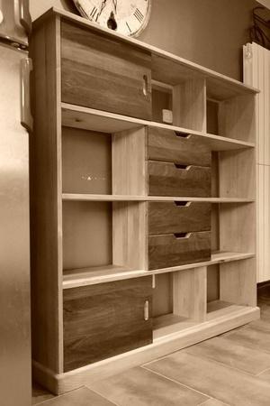 Bibliothèque en hêtre