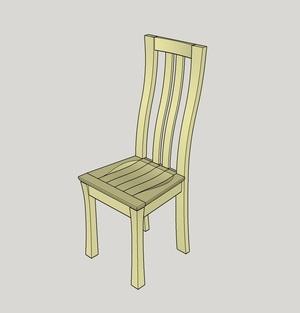 Chaise aux pieds courbes