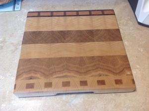 Petite planche en bois de bout