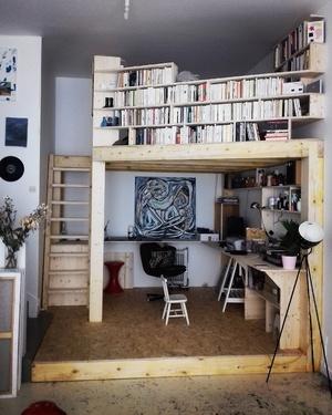 Mezzanine bibliothèque atelier