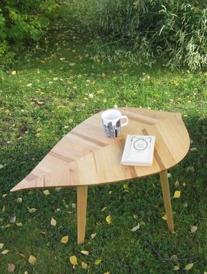 Prototype de table feuille pour ma première commande!