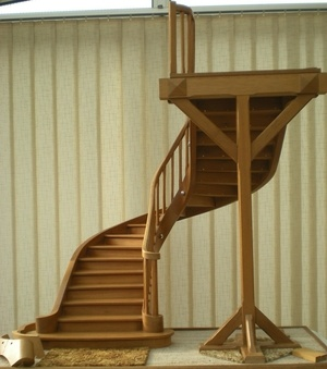 Maquette escalier en U