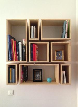 Bibliothèque en cubes