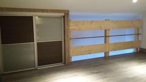 Création d'une mezzanine et d'un escalier quart tournant