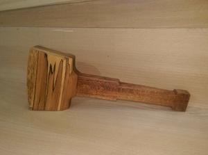 Fabrication d'un maillet en hêtre et bois exotique