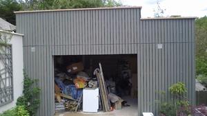 Bardage d'un garage