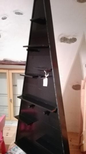Sapin de hiver géant custom-made, concept store Lyon noir brillant