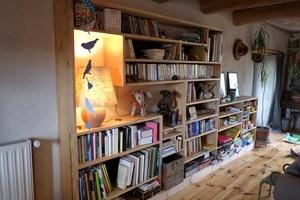 Bibliothèque en châtaignier