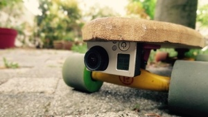 Support de gopro skateboard